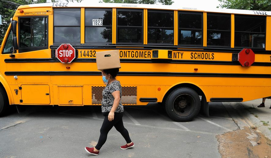 The Montgomery County School District has not set a date to reopen classrooms for in-person learning, but did identify steps for a return. (Associated Press)