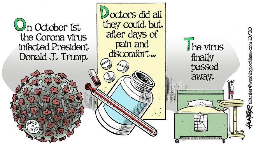 Illustration by Alexander Hunter for The Washington Times (published October 7, 2020)