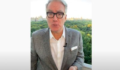 Liberal commentator Keith Olbermann announced on Tuesday, Oct. 6, 2020, that he was leaving ESPN for a third time so that he can focus his efforts on political commentary ahead of the November election. (Screengrab via YouTube/@Keith Olbermann)
