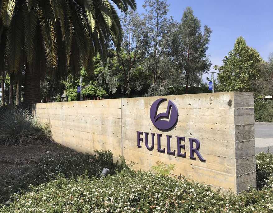 The campus of Fuller Theological Seminary is seen in Pasadena, Calif., Wednesday, May 23, 2018. After 70 years, Fuller Theological Seminary plans to put its leafy campus up for sale and move across Los Angeles County. The school in Pasadena's central business section will relocate 27 miles (43 kilometers) east to Pomona. Fuller's current grounds, which include stately houses in the Ford Place Historic District, will be sold for new uses and development. (AP Photo/John Antczak)  **FILE**