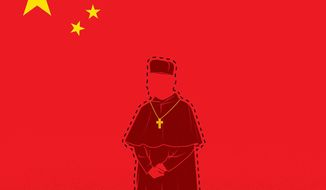 Illustration on Bishop James Su Zhimin by Linas Garsys/The Washington Times