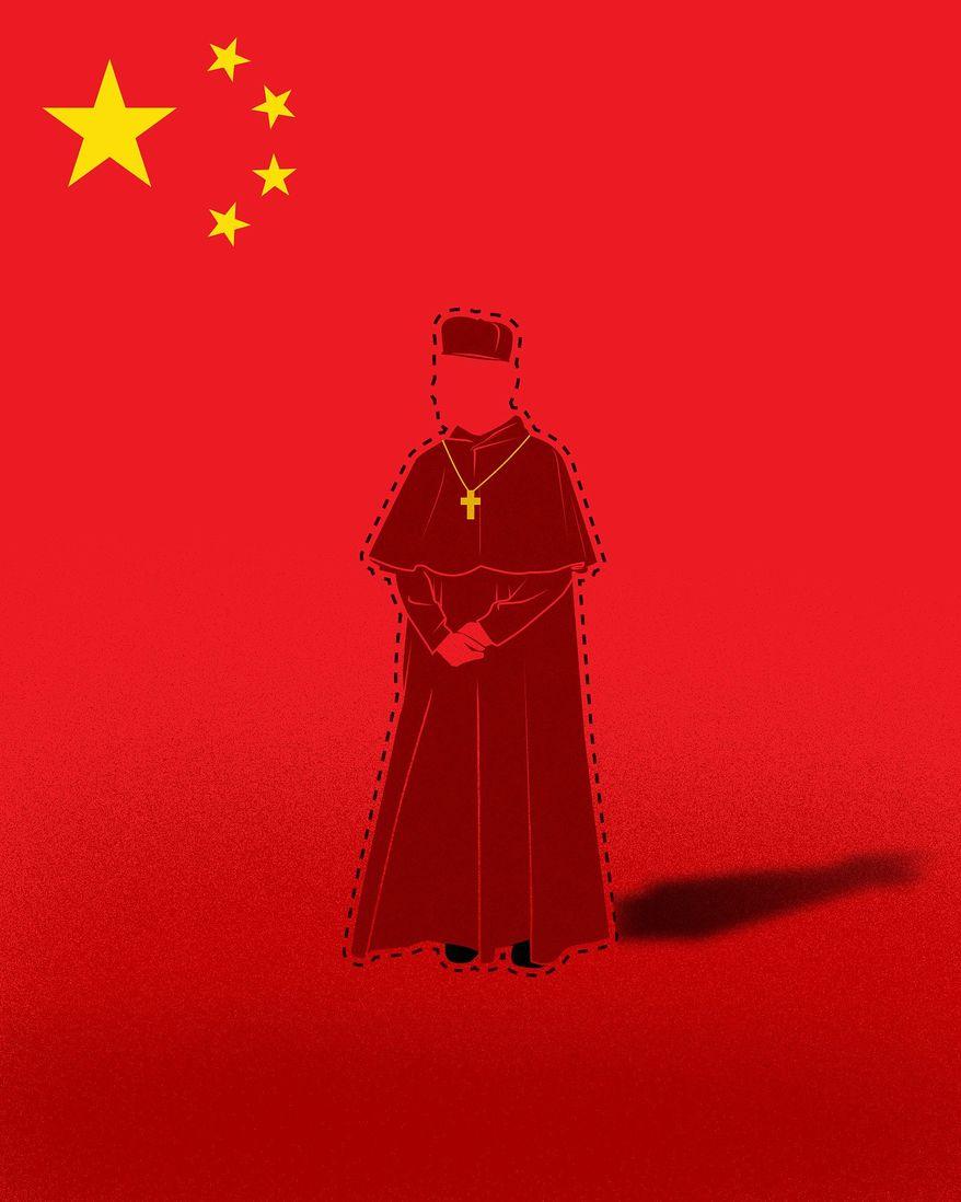 Illustration on Bishop James Su Zhimin by Linas Garsys/The Washington Times