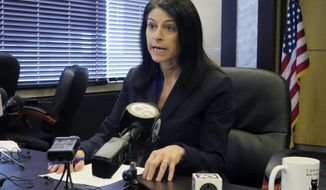 Michigan Attorney General Dana Nessel is readying complaints against Sidney Powell, who has charged foreign interference because of the voting systems used by some of the counties in the state. (AP Photo/David Eggert, File)