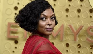 FILE - In this Sept. 22, 2019, file photo, Taraji P. Henson arrives at the 71st Primetime Emmy Awards at the Microsoft Theater in Los Angeles. Henson, who has spoken publicly about her struggles with anxiety and depression, was named Thursday, Oct. 8, 2020, as the latest recipient of the Boston-based Ruderman Family Foundation's Morton E. Ruderman Award in Inclusion for her work to end the stigma around mental illness. (Photo by Jordan Strauss/Invision/AP, File)