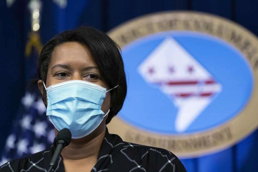 In this file photo, District of Columbia Mayor Muriel Bowser speaks during a press briefing Monday, Sept. 14, 2020, in Washington. The District in late October is reporting an uptick in coronavirus cases as the U.S. is seeing its highest rate of cases since mid-summer. (AP Photo/Alex Brandon) **FILE**