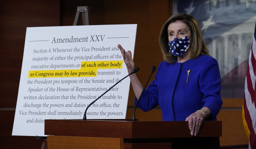 Speaker of the House Nancy Pelosi, D-Calif., holds a news conference at the Capitol in Washington, Friday, Oct. 9, 2020.  (AP Photo/J. Scott Applewhite)  **FILE**