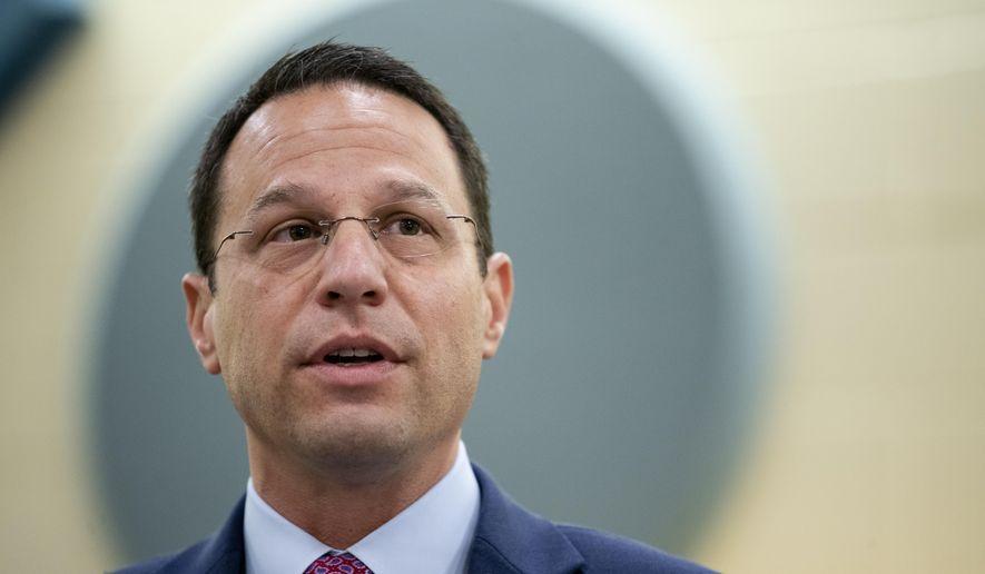 In this Nov. 26, 2019, file photo, Pennsylvania Attorney General Josh Shapiro speaks at Muhlenberg High School in Reading, Pa. (AP Photo/Matt Rourke, File)