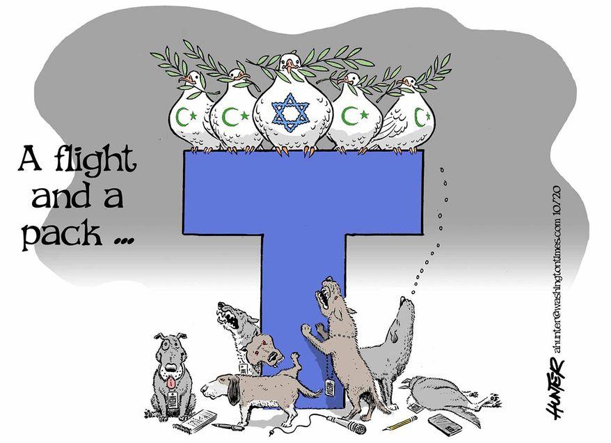 Illustration by Alexander Hunter for The Washington Times (published October 11, 2020)