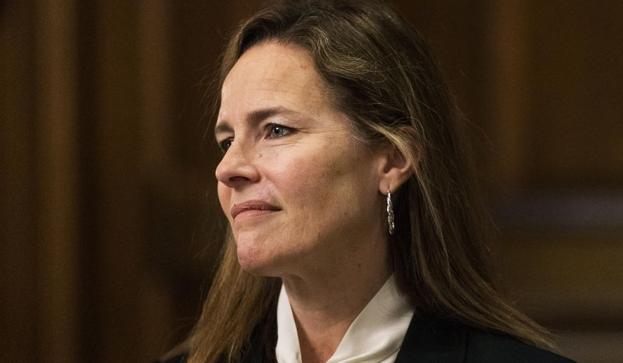 Judge Barrett, who sits on the 7th U.S. Circuit Court of Appeals, will face the Senate Judiciary Committee for several days this week in one of the most contentious job interviews in Washington. (Associated Press/File)