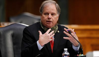 Sen. Doug Jones won the 201 6 election in Alabama by 1%. His choices have not sit well with his state's conservative electorate. (Associated Press)