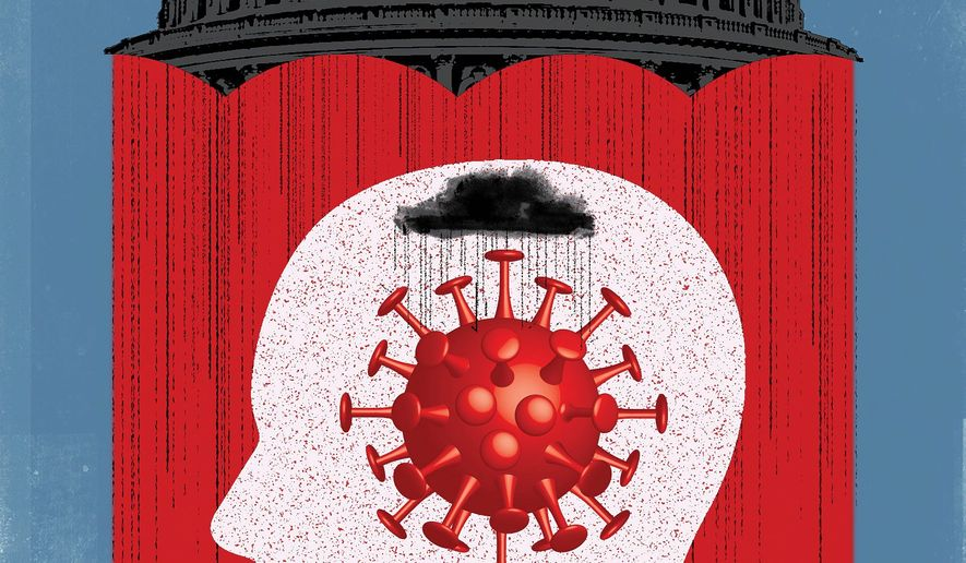 Mental health and domestic violence worse during COVID-19 pandemic illustration by Linas Garsys / The Washington Times