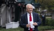White House trade adviser Peter Navarro holds his notes after a television interview at the White House Monday, Oct. 12, 2020, in Washington. (AP Photo/Alex Brandon)