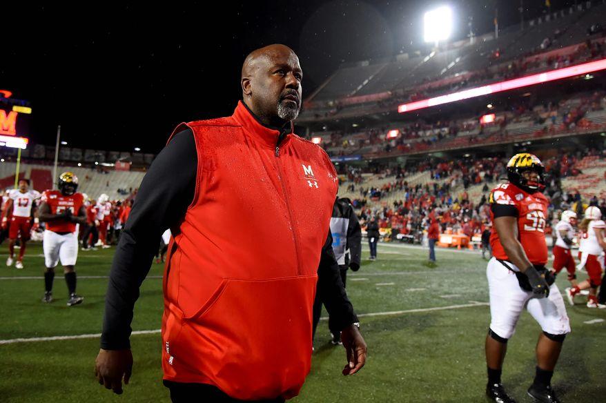 Maryland coach Michael Locksley.  (Associated Press file photo)