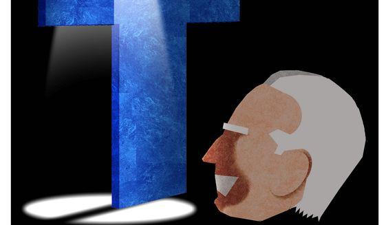 Illustration on Biden and media scrutiny by Alexander Hunter/The Washington Times