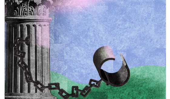 Illustration on ignoring  government COVID restrictions by Alexander Hunter/The Washington Times