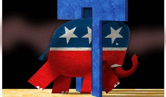 Illustration on the GOP's future after Trump by Alexander Hunter/The Washington Times