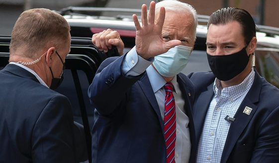 Democratic presidential nominee Joseph R. Biden's schedule before the debate with President Trump is being criticized for being too light. (Associated Press)