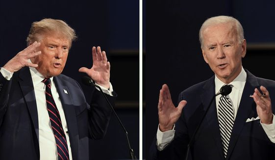Analysts are already preparing themselves for the second and final debate between President Trump and Democratic presidential nominee Joseph R. Biden, set to debate on Thursday. (Associated Press Photographs)