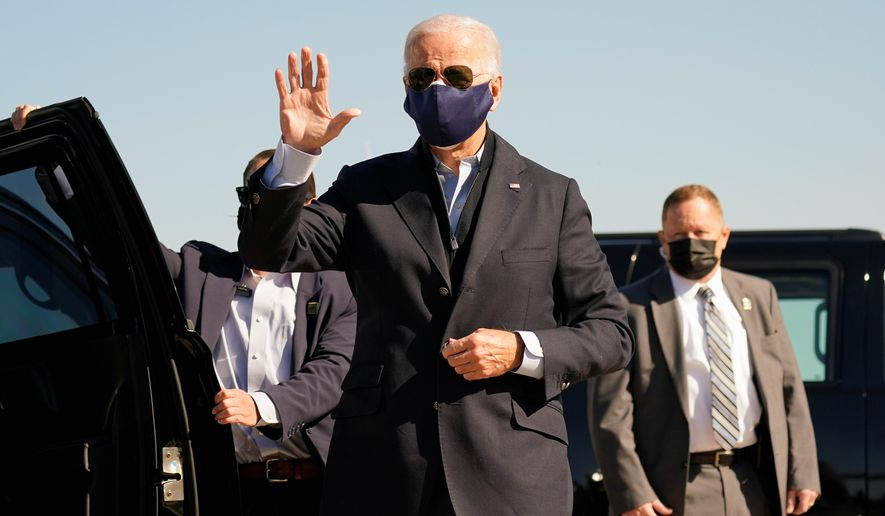 """I have no response,"" Democratic presidential nominee Joseph R. Biden said about his son's business dealings. ""It's another smear campaign. Right up your alley."" (Associated Press)"