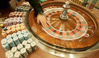 A roulette table      (Associated Press photo)