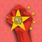 Illustration on Chinese aspirations by Linas Garsys/The Washington Times