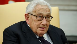 Former Secretary of State Henry Kissinger is the architect of conciliatory U.S. policies toward China. (Associated Press/File)