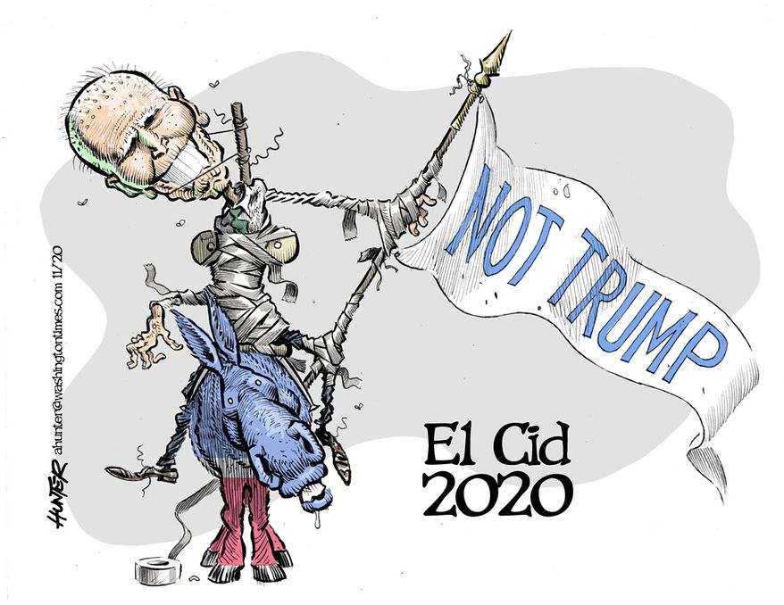 Illustration by Alexander Hunter for The Washington Times (published October 21, 2020)
