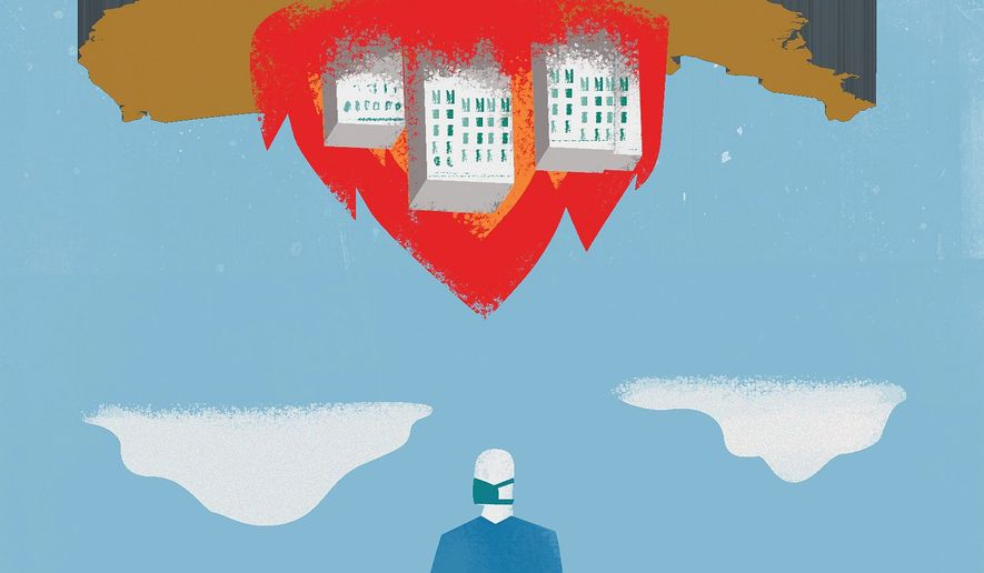 Changes to American life after COVID-19 pandemic become permanent? Illustration by The Washington Times