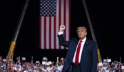 President Donald Trump arrives for a campaign rally at Gastonia Municipal Airport, Wednesday, Oct. 21, 2020, in Gastonia, N.C. (AP Photo/Evan Vucci)