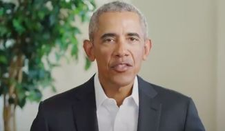 "Former President Barack Obama posted a campaign video urging young Americans to vote for Democratic presidential nominee Joe Biden, saying their vote is the first step to create a ""new normal"" in the country and ""change the game entirely."" (Screenshot via Twitter/@BarackObama)"