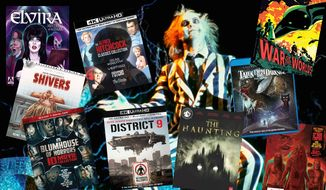 "Best movie releases for Halloween this year include ""Beetlejuice,"" ""Elvira: Mistress of the Dark,"" ""The Alfred Hitchcock Classics Collection,"" ""Vestron Video Collector's Series: Shivers, ""The War of the Worlds,"" ""Blumhouse of Horrors"" ""District 9,"" ""Tales from the Darkside: The Movie (Collector's Edition),""  ""Paramount Presents: The Haunting,"" and ""Rob Zombie Trilogy: SteelBook Edition."""