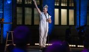 """This image released by HBO Max shows Chelsea Hander during her comedy special """"Chelsea Handler: Evolution"""" streaming now. (HBO Max via AP)"""