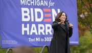 Democratic vice presidential candidate Sen. Kamala Harris, D-Calif., speaks during a campaign event, Sunday, Oct. 25, 2020, in Troy, Mich. (AP Photo/Carlos Osorio)