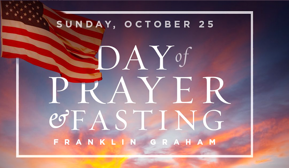 Franklin Graham asks the nation to pray for the outcome of the election on Sunday