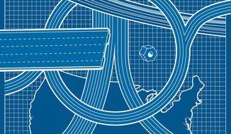 Department of Transportation modernized transportation systems illustration by The Washington Times