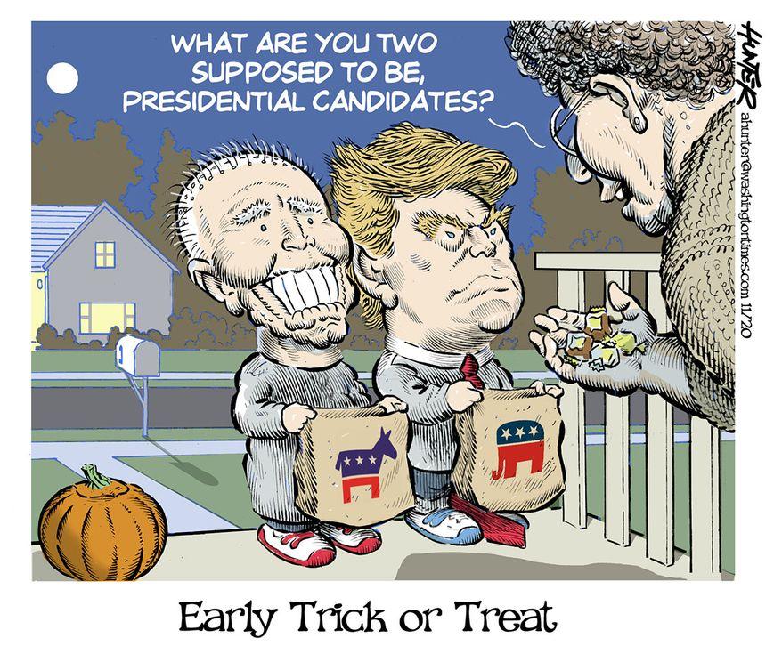 Illustration by Alexander Hunter for The Washington Times (published October 27, 2020)