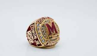 The Maryland men's basketball team received rings after winning its first Big Ten regular season title. (Courtesy of Maryland athletics)
