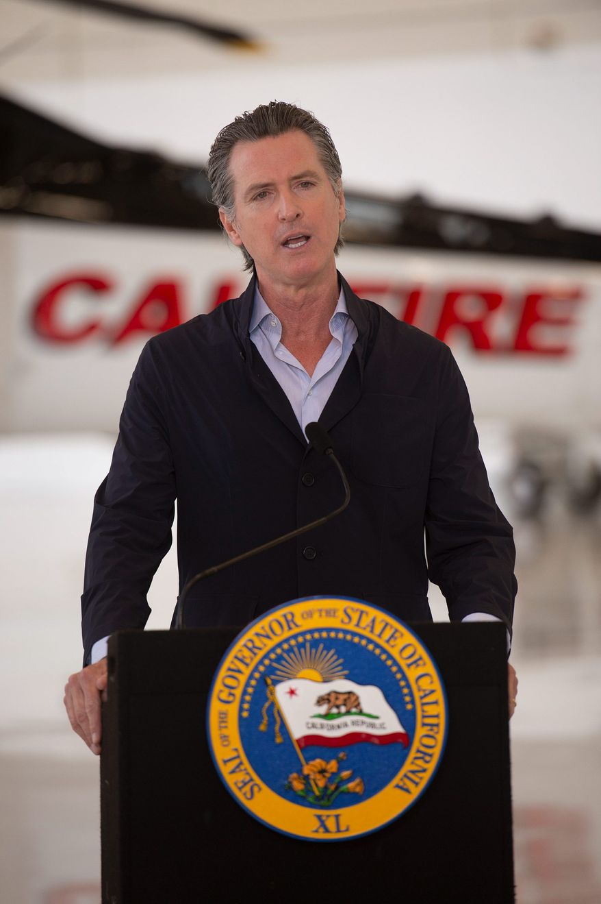 """""""Some folks are asserting that we put out guidelines for the holidays,"""" California Gov. Gavin Newsom said. """"They were simply misled. ... we have not put out Thanksgiving guidelines."""" (ASSOCIATED PRESS)"""