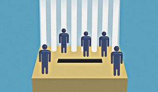 Election a choice and constitutional norms illustration by The Washington Times