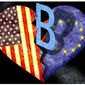 Illustration on Biden's impact on U.S. European relations by Alexander Hunter/The Washington Times
