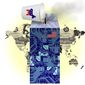 Illustration on Democratic party interference with American tech dominance by Alexander Hunter/The Washington Times