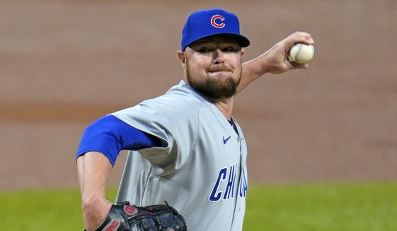 Chicago Cubs starting pitcher Jon Lester delivers during the first inning of a baseball game against the Pittsburgh Pirates in Pittsburgh, Monday, Sept. 21, 2020. (AP Photo/Gene J. Puskar) **FILE**