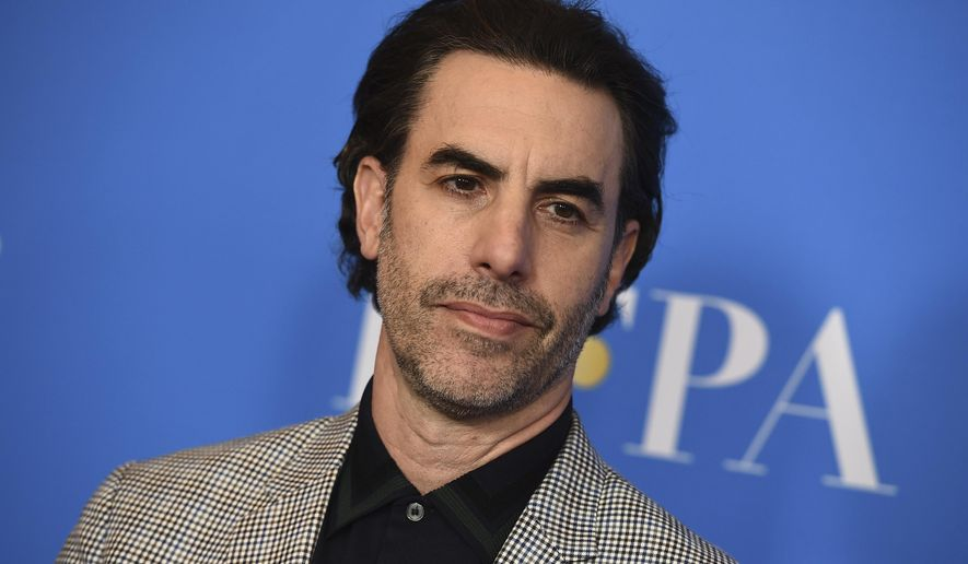 In this Wednesday, July 31, 2019 file photo, Sacha Baron Cohen arrives at the 2019 Hollywood Foreign Press Association's Annual Grants Banquet at the Beverly Wilshire Beverly Hills, Calif. (Photo by Jordan Strauss/Invision/AP, File)