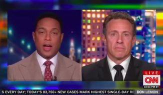 "CNN host Don Lemon said Thursday he ""had to get rid of"" a lot of President Trump-supporting friends during the coronavirus pandemic, because he thinks they are ""too far gone"" in their delusions and ""have to hit rock bottom like an addict"" in order to accept reality. (Screenshot via CNN)"