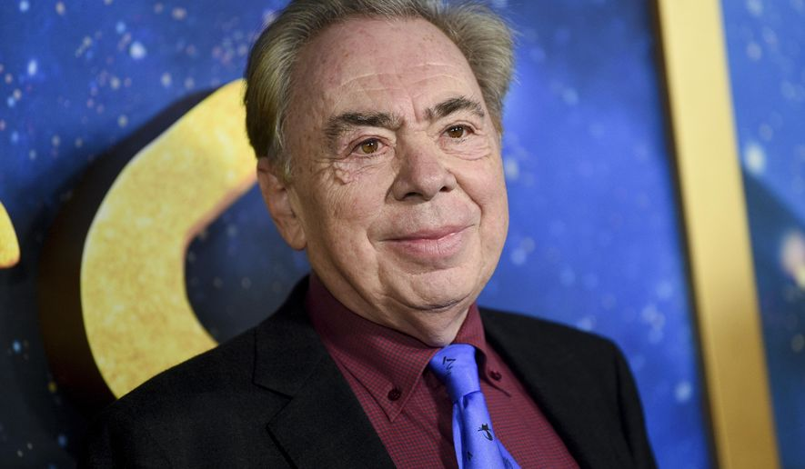 This Dec. 16, 2019 file photo shows composer and executive producer Andrew Lloyd Webber attending the world premiere of 'Cats' in New York.  (Photo by Evan Agostini/Invision/AP, File)  **FILE**