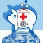Illustration on health savings accounts by Linas Garsys/The Washington Times