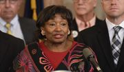 New York Senate Majority Leader Andrea Stewart Cousins and members of the Senate Democratic and Assembly Majority speaks during a new conference to discuss legislation for limousine safety at the state Capitol in Albany, N.Y.  (AP Photo/Hans Pennink, File)
