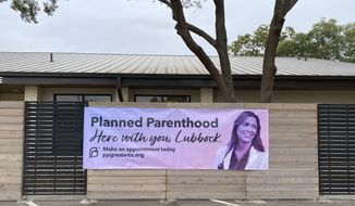 This  Oct. 23, 2020, photo provided by Planned Parenthood of Greater Texas shows the new Planned Parenthood health center in Lubbock, Texas. (Planned Parenthood of Greater Texas via The AP)