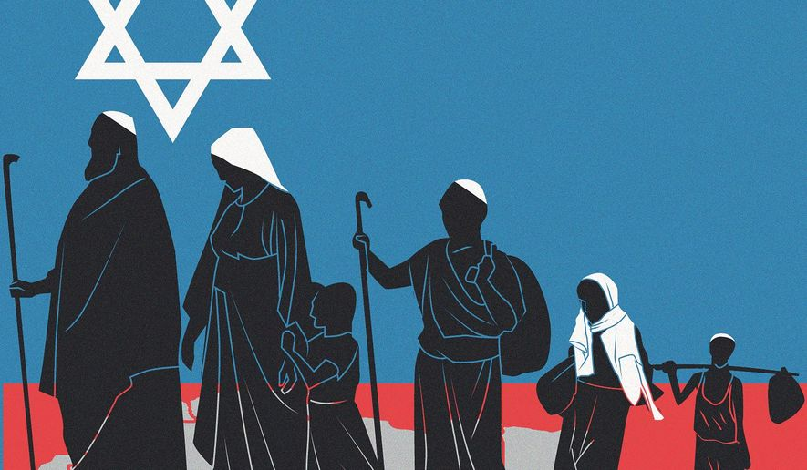 Illustration on Natan Sharansky by Linas Garsys/The Washington Times
