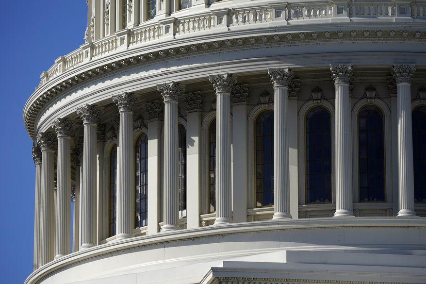 This Monday, Nov. 2, 2020, file photo shows the U.S. Capitol building in Washington. (AP Photo/Patrick Semansky, File)